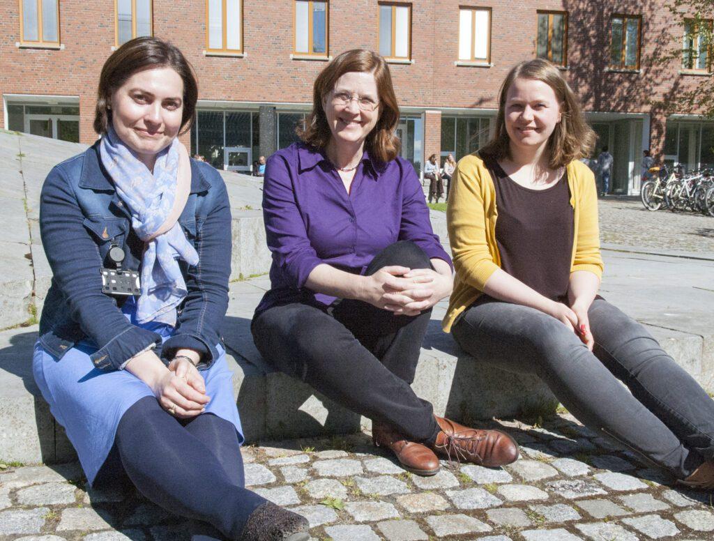 From left: Camilla Brekke, Cathleen Jones and Stine Skrunes. Photo: Karine Nigar Aarskog