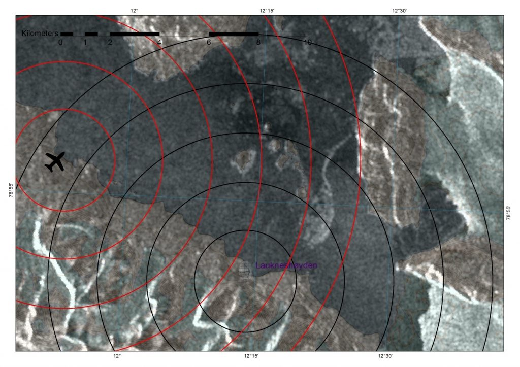 Figure 2. Sentinel 1A HH polarization image from April 17, 17.37 local time Example image downloaded from the Copernicus Science Hub. Not properly DEM corrected.