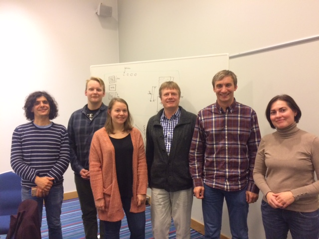 The team met in Gardermoen on October 26, 2016 to plan next spring's HSVA experiment. From left: Laurent, Rolf, Stine, Børge, Christian and Camilla.
