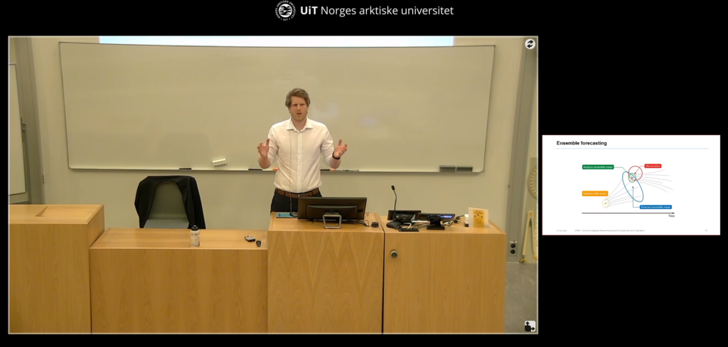 Sindre Fritzner defending his thesis